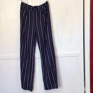 Matching cropped halter top and wide leg pant set